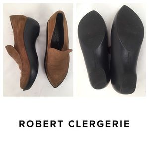 SUEDE SLIP ON MULES CLOGS ROBERT CLERGERIE